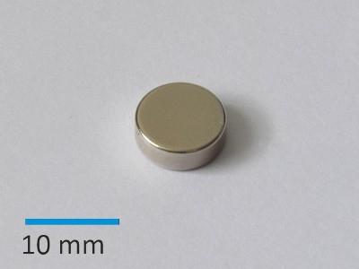 N42 D10x3,5mm, Ni